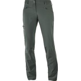Salomon Wayfarer Spodnie długie Kobiety Regular oliwkowy